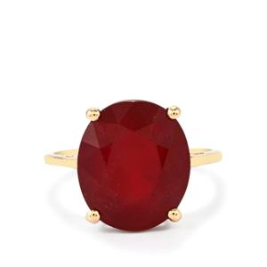 Malagasy Ruby Ring  in 9K Gold 10.14cts (F)