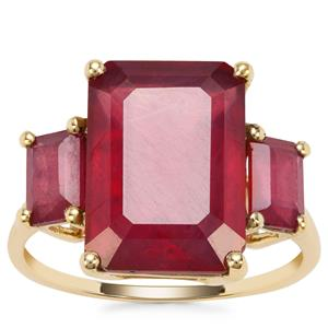 Malagasy Ruby Ring in 9K Gold 10.13cts