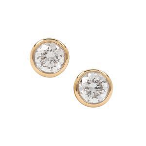 1/3ct Diamond 18K Gold Earrings