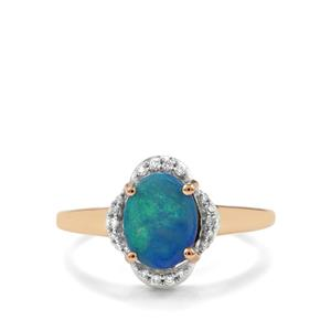 Crystal Opal on Ironstone & Diamond 18K Gold Tomas Rae Ring