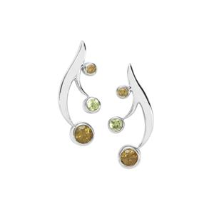 Ambanja Demantoid Garnet Earrings in Sterling Silver 0.77ct