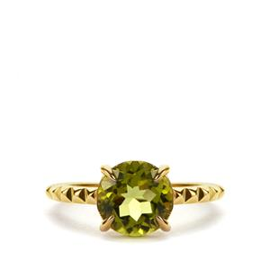 Red Dragon Peridot Ring in 9K Gold 2.98cts