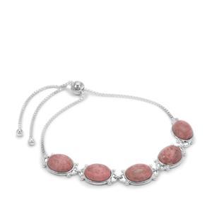 Thulite Slider Bracelet in Sterling Silver 15.90cts