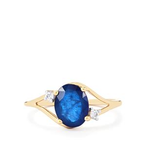 Santorinite™ Blue Spinel & White Zircon 9K Gold Ring ATGW 2.10cts