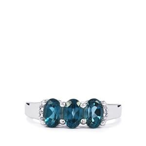 Marambaia London Blue Topaz Ring with Zircon in Sterling Silver 1.71cts