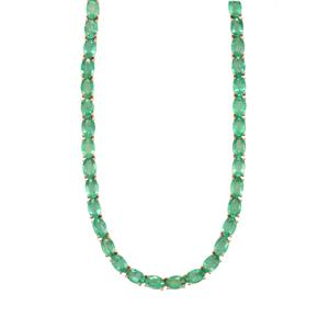 Zambian Emerald Necklace in 10k Gold 25.02cts
