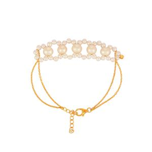 Kaori Cultured Pearl Bracelet  in Gold Plated Sterling Silver