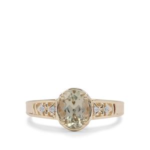 Csarite® Ring with White Zircon in 9K Gold 1.35cts
