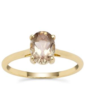 Peach Parti Oregon Sunstone Ring in 9K Gold 1.11cts