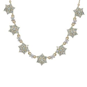 Aquaiba™ Beryl Necklace with Diamond in 9K Gold 2.95cts