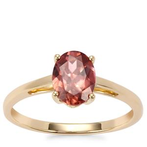 Zanzibar Zircon Ring in 10K Gold 1.67cts