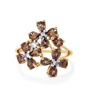 Bekily Colour Change Garnet & White Zircon 9K Gold Ring ATGW 2.59cts