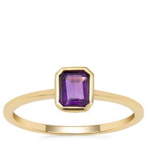 Amethyst Ring in 9K Gold 0.45ct