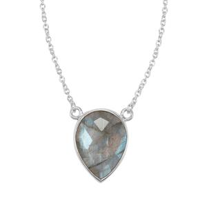 Labradorite Necklace in Sterling Silver 9cts