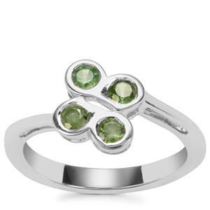 Ambanja Demantoid Garnet Ring in Sterling Silver 0.83ct