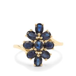 Australian Blue Sapphire Ring in 10K Gold 2.38cts