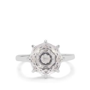 Efflorescence Optic Quartz Ring in Sterling Silver 5.30cts