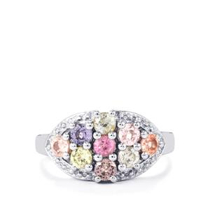 Rainbow Sapphire Ring in Sterling Silver 1.44cts