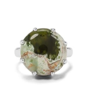 9ct Opal Chalcedony Sterling Silver Aryonna Ring