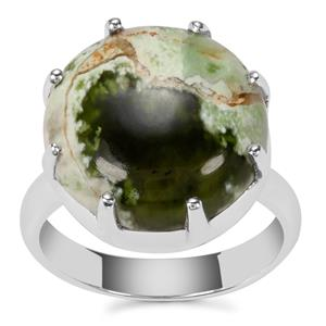 Opal Chalcedony Ring in Sterling Silver 9cts