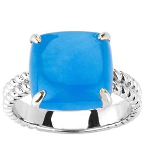 6.88ct Blue Jade Sterling Silver Ring