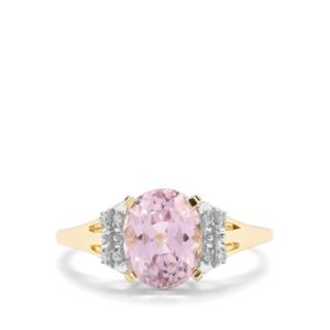 Mawi Kunzite Ring with Diamond in 9K Gold 2.68cts