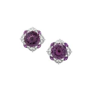 6.48ct Bahia & Ametista Amethyst Sterling Silver Earrings
