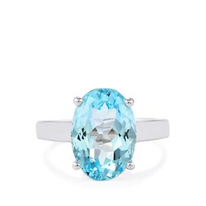 Sky Blue Topaz Ring in Sterling Silver 6.89cts