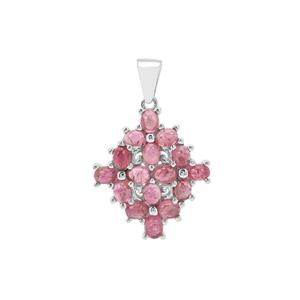 Pederneira Pink Tourmaline Pendant in Sterling Silver 3.76cts