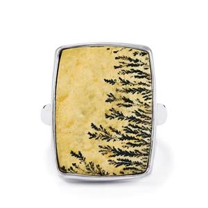13ct Manganese Dendrite Sterling Silver Aryonna Ring