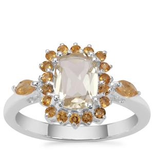 Serenite Ring with Diamantina Citrine in Sterling Silver 1.71cts