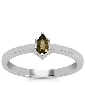 Moldavite Ring in Sterling Silver 0.15ct