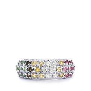 0.91ct Exotic Gems Sterling Silver Ring
