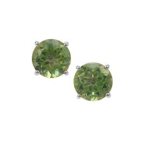 Fern Green Quartz Earrings in Sterling Silver 6.85cts