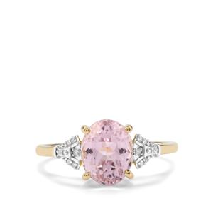 Mawi Kunzite Ring with Diamond in 9K Gold 2.57cts