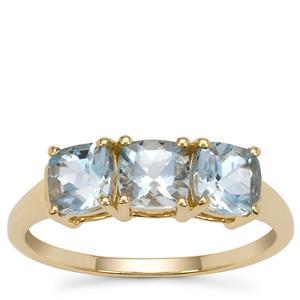 Santa Maria Aquamarine Ring in 9K Gold 1.45cts