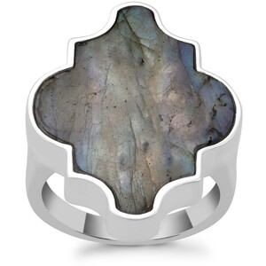 Labradorite Ring in Sterling Silver 12.52cts