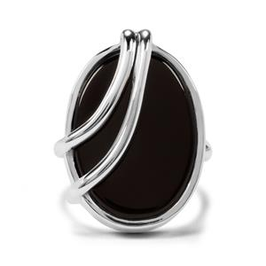 12ct Black Onyx Sterling Silver Aryonna Ring