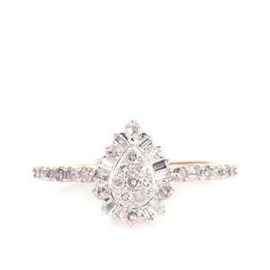 Diamond Ring in 9K Rose Gold 0.40ct