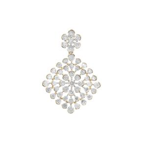 Diamond Pendant in 9K Gold 2.05cts