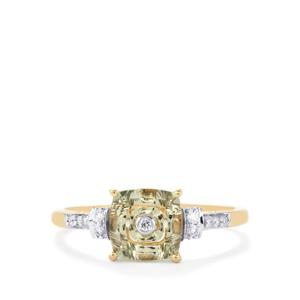 Lehrer TorusRing Csarite® Ring with Diamond in 18K Gold 1.36cts