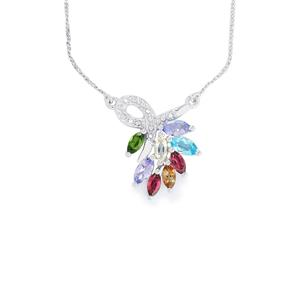 2.47ct Exotic Gems Sterling Silver Necklace