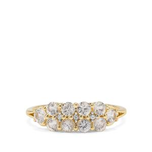 Ceylon White Sapphire Ring in 9K Gold 1.13cts