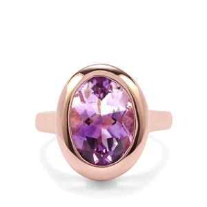 'Jewel of Boudi' Moroccan Amethyst Ring in Rose Gold Plated Sterling Silver 4.70cts