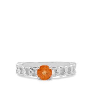 0.96ct Mandarin Garnet Sterling Silver Ring