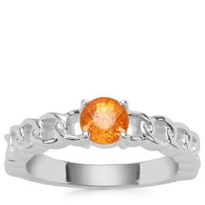 Mandarin Garnet Ring in Sterling Silver 0.96ct