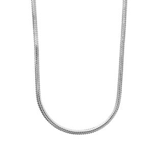 "18"" Sterling Silver Tempo Oval Snake Chain 2.97g"