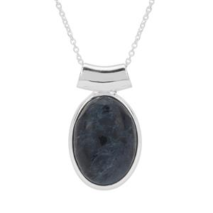 Russian Rhodusite Pendant Necklace in Sterling Silver 12.50cts