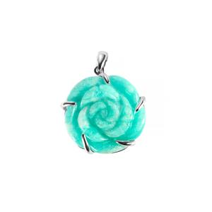 30.30ct Russian Amazonite Sterling Silver Pendant