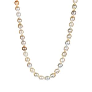 South Sea Cultured Pearl Necklace  in Sterling Silver (8.5mm)